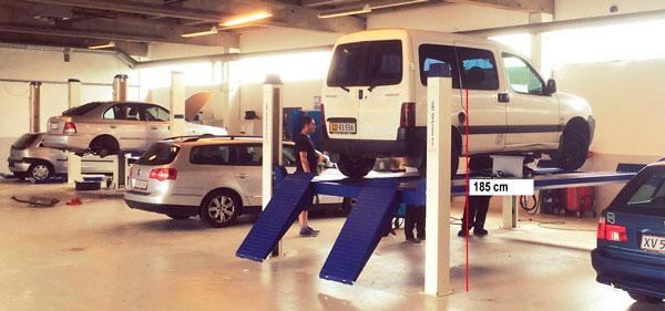 Arbejdshøjde på JA5500F autolift