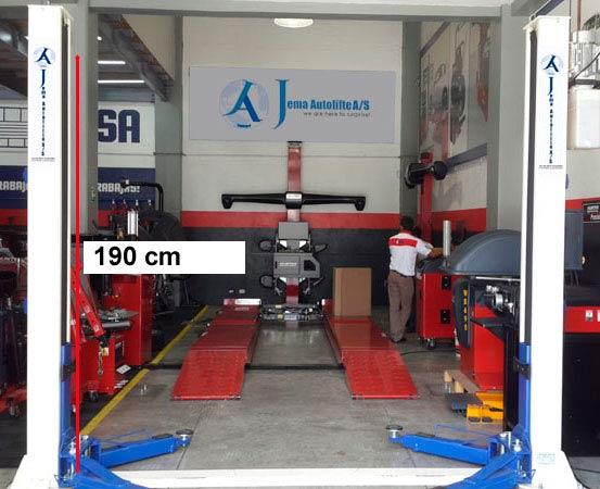 Arbejdshøjde på autolift